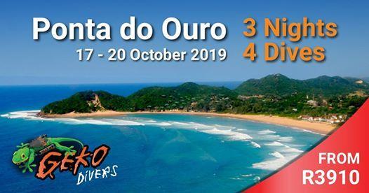 Scuba Trip Ponta do Ouro 17 - 20 October 2019