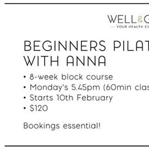 8-week Beginners Pilates Course