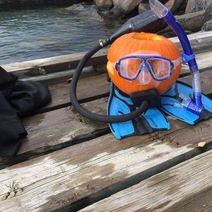 Underwater Pumpkin Carve