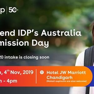 Attend IDPs Australia Admission Day  Chandigarh