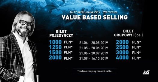 Value Based Selling 16-17 padziernika 2019