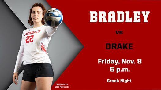 Bradley Volleyball vs. Drake