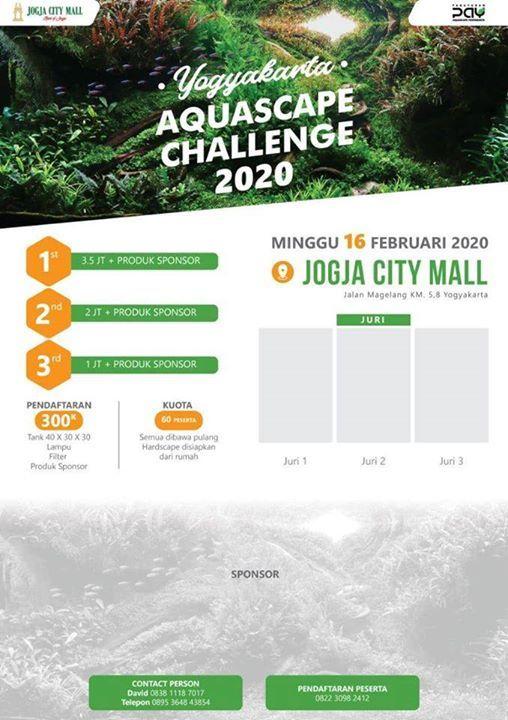 Yogyakarta Aquascape Challenge 2020 Jogja City Mall Yogyakarta February 16 2020 Allevents In