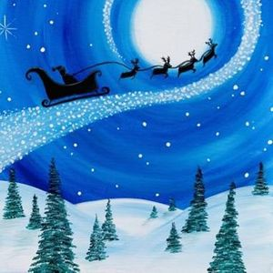 Paint Nite - The Magic of Santas Christmas Flight