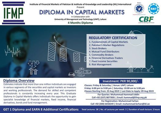Diploma in Capital Markets  GET 1 Diploma & 8 Certifications