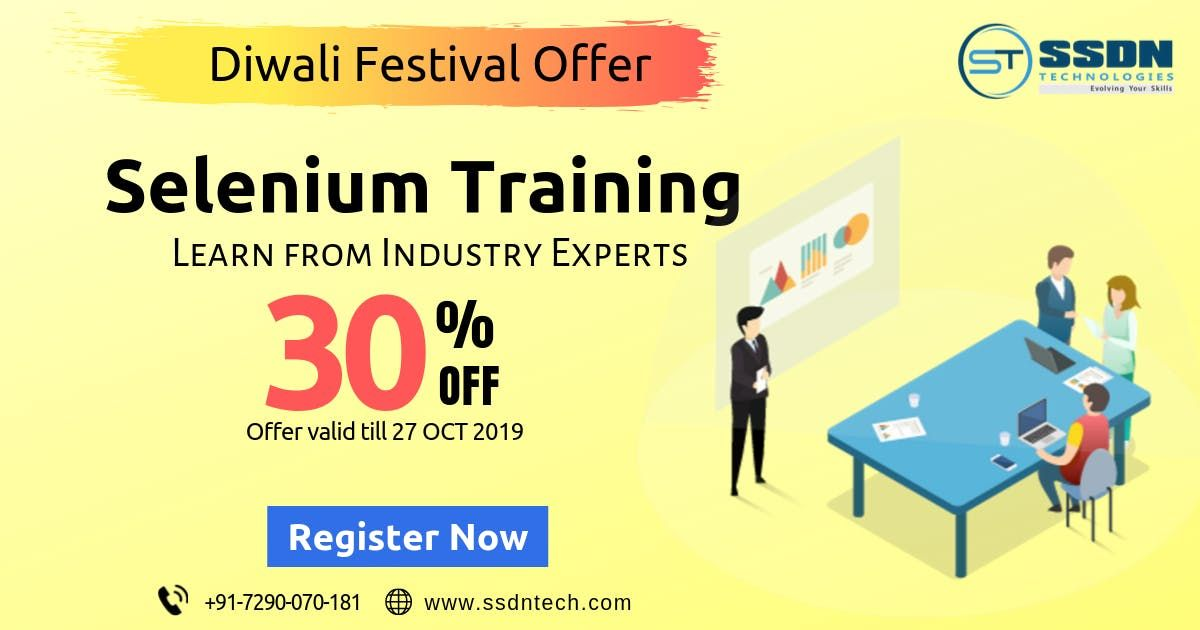 30% Off on Selenium Training in Gurgaon (Paid Training)