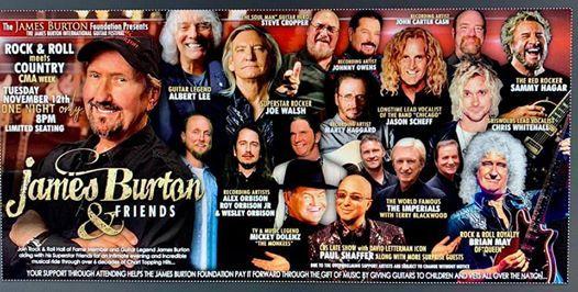 James Burton & Friends ft. Joe Walsh Brian May & Many More