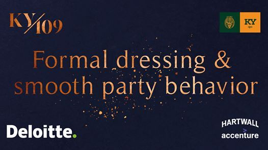 Formal dressing and smooth party behavior