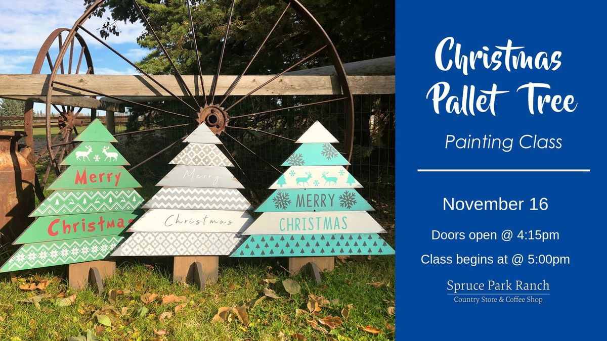 Picture A Christmas.Christmas Pallet Tree