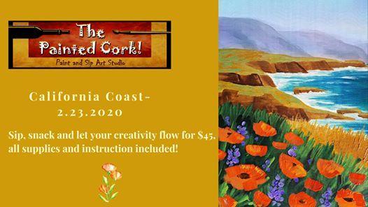 Paint and Sip Sac Studio California Coast