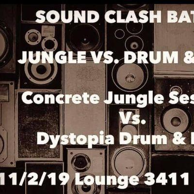SoundClash Battle. Concrete Jungle Sessions vs. Dystopia D&ampB