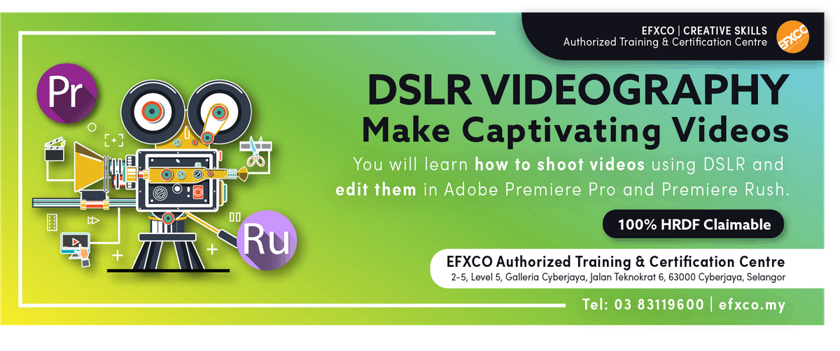 AUTHORISED TRAINING DLSR & SMARTPHONE VIDEOGRAPHY