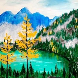 Paint Nite - Autumn in the Mountains