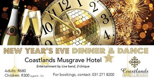 New Years Eve at Coastlands Musgrave Hotel